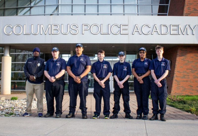 Police Explorers standing together